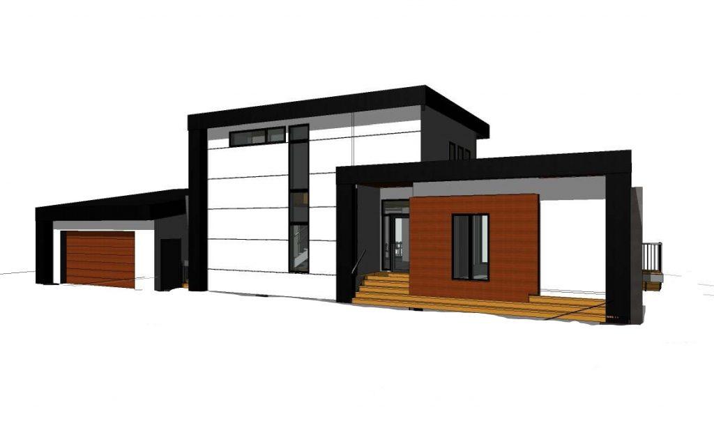 Modern Bayfield waterfront home